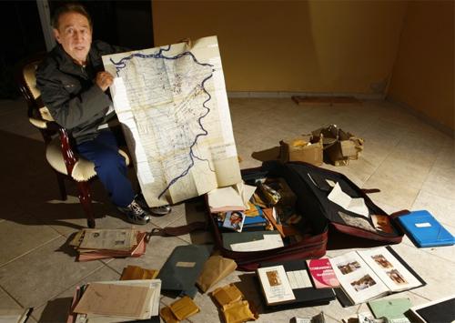 Major Sebastião Curió, oficial remanescente da ditadura, abre o arquivo secreto da Guerrilha do Araguaia, em junho de 2009 (fonte: Portal R7)