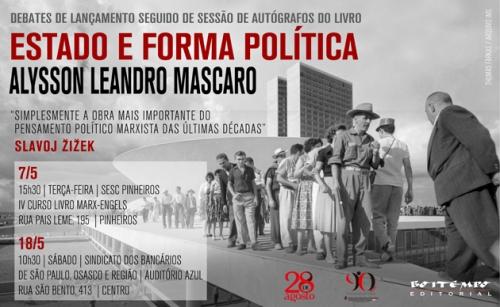 Estado e forma política_Alysson Mascaro_lançamentos_630p
